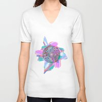 holographic V-neck T-shirts featuring Colour Me by Belinda O'Connell
