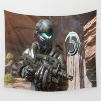 guardians Wall Tapestries featuring Halo5 Guardians by ezmaya