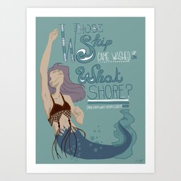 Fiji Mermaid Art Print