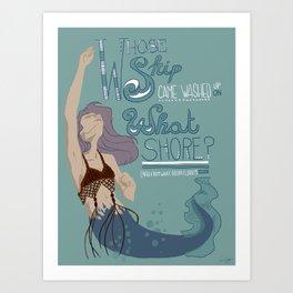 Fiji Mermaid Art Print
