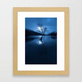 lonely tree snowdonia Framed Art Print