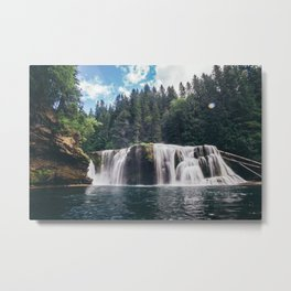 Lower Lewis River Falls Metal Print