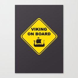 VIKING ON BOARD Canvas Print