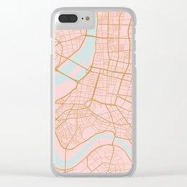 Taipei map, Taiwan Clear iPhone Case