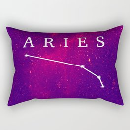 Starry Aries Constellation Rectangular Pillow