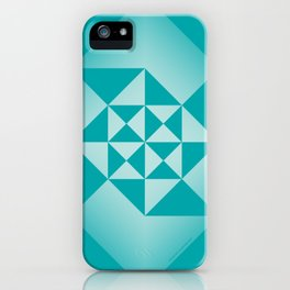 Abstract Triangles - Ocean iPhone Case