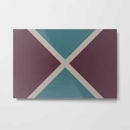 Purple Pink-Purple Aqua Stripes X Pattern 2021 Color of the Year Epoch and Accent Shades Metal Print