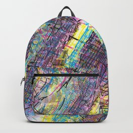 New York City Vibrant CMYK Backpack