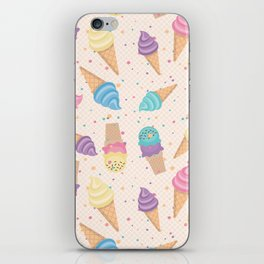 ice cream party iPhone Skin