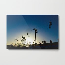 Sunset at the Boardwalk Metal Print