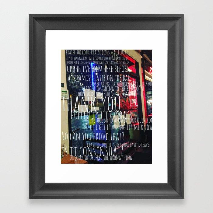 Conversation in a Cafe Framed Art Print