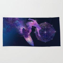 galaxy surfer Beach Towel
