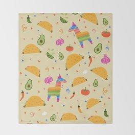 Taco Fiesta Throw Blanket
