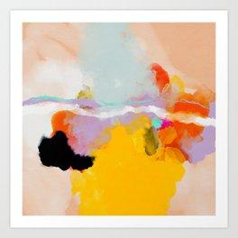 yellow blush abstract Art Print