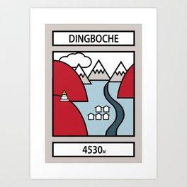 Dingboche Art Print