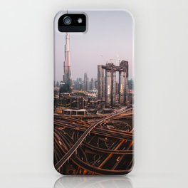 Dubai Skyline at Night   Travel Photography   iPhone Case