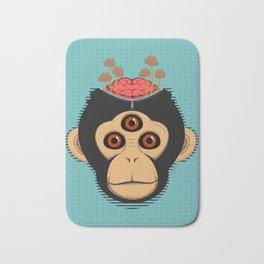 3rd Eye Chimp & Psychedelic Mushrooms Bath Mat