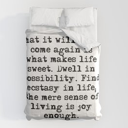 What makes life sweet - Emily Dickinson Comforters