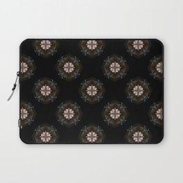 Beige Cross Flower Pattern Laptop Sleeve
