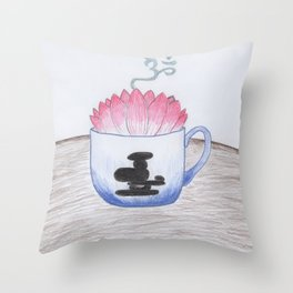Zen Tea Throw Pillow