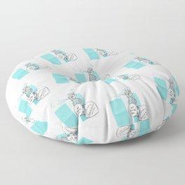 Blue Jewelry Box Floor Pillow