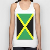 jamaica Tank Tops featuring Jamaica Flag by D.A.S.E. 3