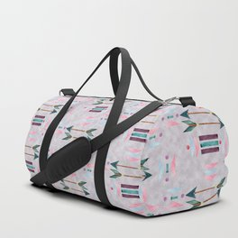 Chic Watercolour Tribal Pattern on a textured background Duffle Bag