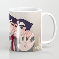 "legend of korra Mugs featuring Legend of Korra ""The Krew"" by Angie Nasca"