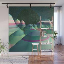 Stripy Landscape Wall Mural