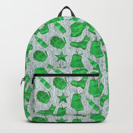 Army Inspired Icons Set 4 Backpack