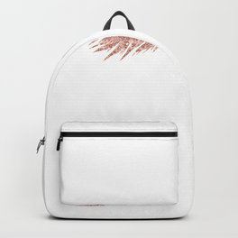 Pretty Lashes Rose Gold Glitter Pink Backpack