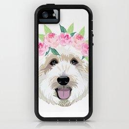 Golden Doodle dog - dog portrait, dog face, golden doodle, doodle dog, dog, dogs, dog fabric iPhone Case