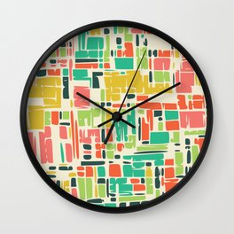 Road map abstract pattern Wall Clock
