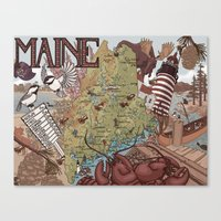 maine Canvas Prints featuring Maine by Jada Fitch