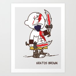 Kratos Brown Art Print