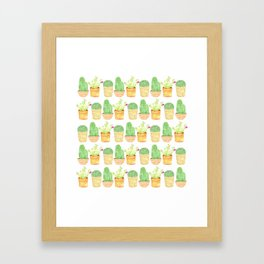 mini cactus friends Framed Art Print