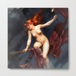 "Luis Ricardo Falero ""Muse of the Night (also known as The Witches Sabbath)"" Metal Print"