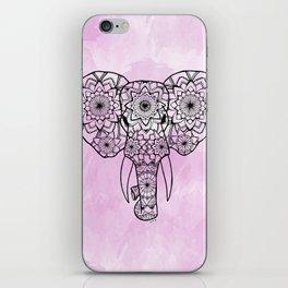 Elephant Pink Illustration iPhone Skin