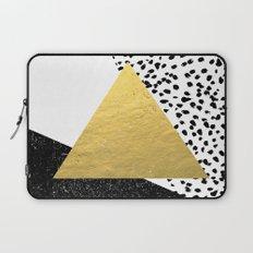 Rexa - gold abstract minimal tribal glitter triangle geometric art cell phone case brooklyn austin  Laptop Sleeve
