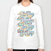 herringbone Long Sleeve T-shirts featuring Herringbone 45 Colour by Project M