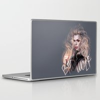 bad wolf Laptop & iPad Skins featuring Bad Wolf by jasric