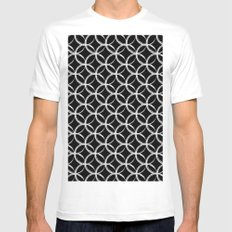 Brushed Circles Inverse Mens Fitted Tee MEDIUM White
