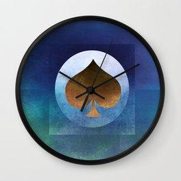 Ace of Spades II Wall Clock