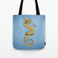seahorse Tote Bags featuring Seahorse by Andreas Preis