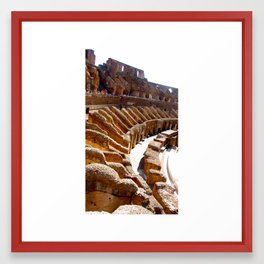 The Colosseum Interior, Rome Framed Art Print