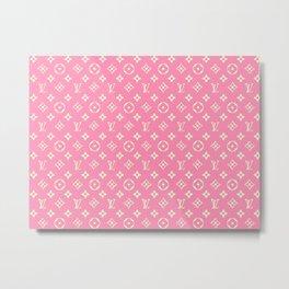 LV Pink Metal Print