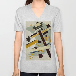 Abstract Composition 424 Unisex V-Neck