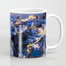 Santorini Island NightView Greece Coffee Mug