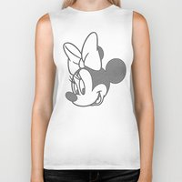 minnie Biker Tanks featuring Minnie Mouse by tshirtsz