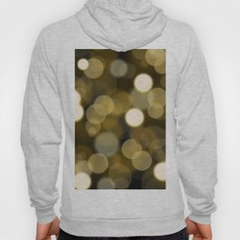 Abstract black gold color modern unfocused lights Hoody